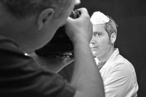 Daniele prof, che fotografa Sandro