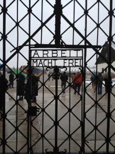 Cancello d'ingresso del campo di concentramento di Dachau